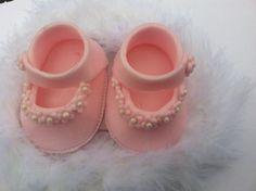fondant shoes/fondant baby/ fondant baby girl/ by BabyForever Cupcake Cakes, Cupcakes, Christening Cakes, Mom Cake, Fondant Baby, Cake Stuff, Fondant Figures, Pastels, Cake Ideas