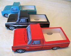 9 ~ Ford Hot Rod Cardboard Cars Kids Food Box Tray Table Center Party Favor in Collectibles, Advertising, Automobiles, American, Ford Ford Classic Cars, Classic Trucks, Obs Truck, Car Food, Ford Diesel, Diesel Trucks, Cardboard Car, Kids Dishes, Party Fiesta