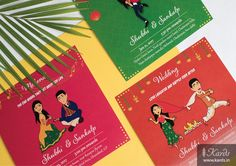 Quirky Bride Indian Wedding Invitation Card