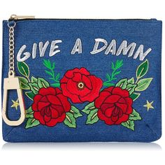 Give a Damn Clutch by Skinnydip ($34) ❤ liked on Polyvore featuring bags, handbags, clutches, multi, plastic handbags, plastic purse, blue purse, blue handbags and blue clutches
