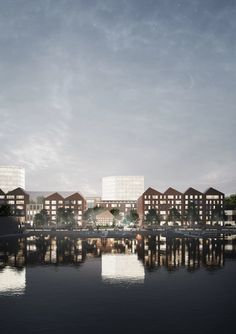 Image 32 of 56 from gallery of An Indonesian Smart City Design and a Contemporary Art School in Vienna: 10 Unbuilt Projects Submitted by our Readers. Image Courtesy of Architecturestudio NOAN Brick Architecture, Pedestrian Bridge, Smart City, Water Treatment, Master Plan, How To Level Ground, Art School, Vienna, Landscape Design