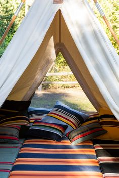 Image may contain: stripes and outdoorYou can find Glamping and more on our website.Image may contain: stripes and outdoor Star Quilt Patterns, Star Quilts, Get Outdoors, The Great Outdoors, Pendleton Woolen Mills, Hidden Beach, Spiritual Path, Sunbrella Fabric, Mold And Mildew