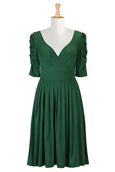 eShakti Green goddess knit dress
