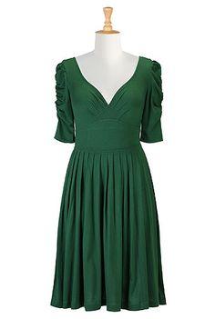 eShakti Green goddess knit dress