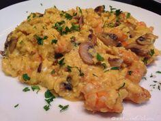 Revuelto de #huevos #veaci #langostinos al gūikley y...