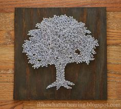 i like what im herring: toomers tree string art