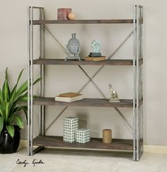 Uttermost Greeley Metal Etagere rustic-bookcases