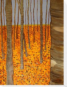 Hockney, Aspens in Fall - would be a fun watercolor project for the girls - masking trees and washing the sky/ground...