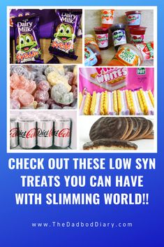 When starting Slimming world it's hard to find treats that wont destroy your syn count from just one bite. See my list of all the best low syn treats. Slimming World Shopping List, Slimming World Syns List, Slimming World Sweets, Slimming World Syn Values, Slimming World Diet Plan, Easy Slimming World Recipes, Slimmers World Recipes, Low Syn Treats, Sliming World