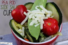 pea pod side salad cup