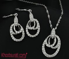 #Online_Shopping #Shopping_Online @ Khoobsurati.com Get This Sterling Silver #Jewelry_Set http://khoobsurati.com/pdt/jewelora/jewelora-delicate-925-sterling-silver-jewelry-set