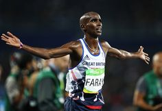 The moment when you realise you've successfully defended your Olympic title. Gold for Mo Farah in the men's 10,000m
