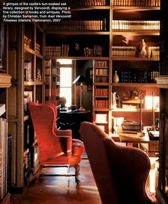 """library, secret door, notice closing edge of door has """"books"""" so when closed it appears as continuous row of books"""