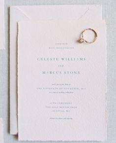 Convite simples e lindo