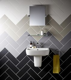 High quality ceramic tiles that create a really luxurious and modern look that's ideal for any busy household. Available in five muted tones, they are the perfect tile to create a tonal gradient or lay in a herringbone pattern.