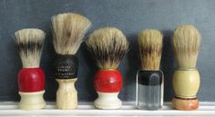 vintage shaving brushes  Remember my Dad using one of these with Old Spice in a mug