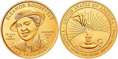 Eleanor Roosevelt Gold Coin from our blog.