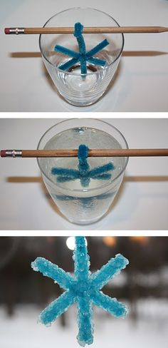 DIY crystal snowflake! So going to do this with Bryce & Emma on break!
