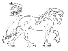 Friesian Lineart for dA use by WSTopDeck