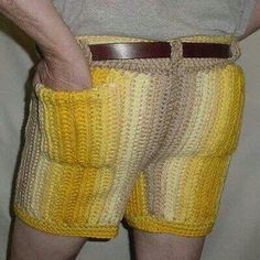 I wonder if his grandma knitted those for him.