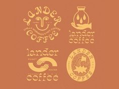Lander Coffee designed by Rise Wise. Connect with them on Dribbble; the global community for designers and creative professionals. Coffee Logo, Coffee Branding, Logo Branding, Branding Design, Logo Design, Product Branding, Logos, Coffee Packaging, Graphic Design
