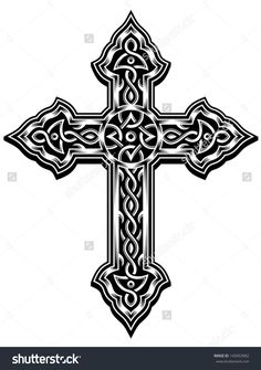 46 Celtic Cross Tattoos Designs pertaining to dimensions 900 X 1405 Gaelic Cross Tattoo - Cross tattoos for women are some of the most popular tattoo Celtic Cross Tattoos, Cross Tattoos For Women, Cross Tattoo Designs, Cross Designs, Celtic Symbols, Celtic Art, Celtic Crosses, Tattoos Cruz, Cruces Tattoo
