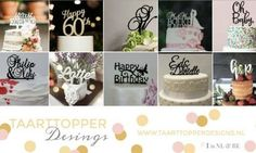 Taarttopper designs Cake, taart, topper toppers wedding baby shower
