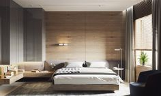 Wooden Wall Designs: 30 Striking Bedrooms That Use The Wood Finish Artfully – Graphic World Co®