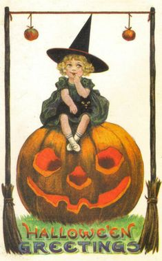 Thinking Witchy Thoughts Retro Halloween, Fröhliches Halloween, Victorian Halloween, Vintage Halloween Images, Halloween Prints, Halloween Pictures, Holidays Halloween, Halloween Decorations, Halloween Cloche