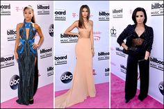 A lot of big stars and names were at the Awards Show last night. Here's Ariana Grande, Zendaya and Demi Lovato