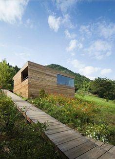 주변의 풍경에 녹아드는 협소주택 - Daum 부동산