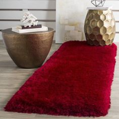 Safavieh Luxe Paxton Power-Loomed Shag Area Rug or Runner, Red