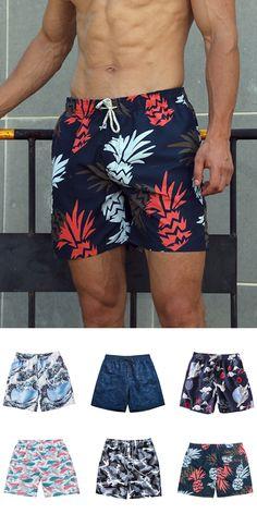 Josid Mens Swim Trunk Boxer Brief Swimsuit Beach Underwear Quick Dry Boardshorts,Dinosaur