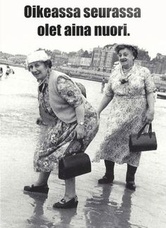 Friends Are Like, Old Friends, Best Friends, Old Lady Humor, Old Folks, Ecole Art, Young At Heart, Whimsical Art, Helsinki