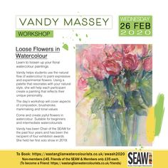 Workshops and events - Society of East Anglian Watercolourists Watercolour Flowers, Floral Watercolor, Watercolor Paintings, Painting Workshop, Palette, Creative, Nature, Art, Art Background