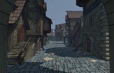 Stylized Medieval Village in a Week. | Steven A Ross