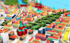 Creative abstract gps satellite navigation, travel, tourism and location route planning business concept: render illustration of the macro view of miniature color city map with Government News, World Government, Buy Health Insurance, Cities, Crafts For Seniors, Senior Crafts, Real Estate Articles, Art For Sale Online, Travel And Tourism