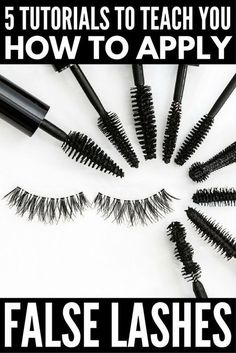 hacks every girl should know make up cheat sheets 5 Tutorials to Teach You How to Apply False Eyelashes Properly Fall Makeup Looks, Winter Makeup, Pretty Makeup, Tips And Tricks, Hair Tricks, Christina Aguilera, Eyebrows, Eyeliner, Applying False Lashes