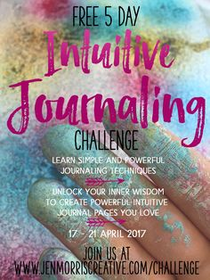 Join me in a free 5 day journaling challenge! Learn simple and powerful journaling and art journaling techniques to connect to your intuition and create journal pages you love. Journal Writing Prompts, Art Prompts, Art Journal Pages, Art Journals, Bullet Journals, Creative Connections, Art Journal Tutorial, Art Journal Inspiration, Journal Ideas