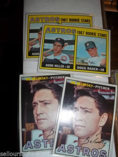 1967 Topps LOT of 4 Houston Astros #412 x 2 - #447 x 2