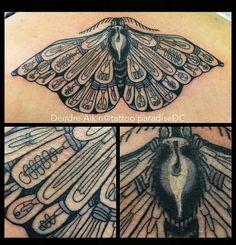 Moth light bulb tattoo
