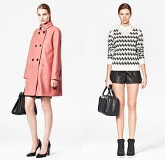 (05a) Glorious Wool Oversized Coat - (05b) Horse Knitted Wool Jumper - French Connection 2013-2014 Fall Winter Womens Lookbook - FCUK Autumn Collection: Designer Denim Jeans Fashion: Season Collections, Runways, Lookbooks and Linesheets