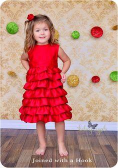 Vivienne Party Dress: Ruffle Dress Pattern, Easter Dress Pattern, Flower Girl Dress Pattern, Girls, Baby, Toddler. $7.95, via Etsy.