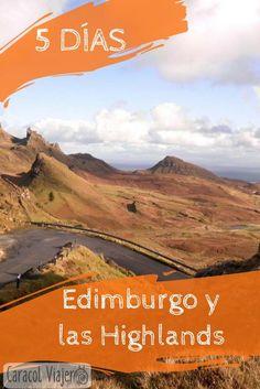 Un recorrido de 5 días por Edimburgo y las Highlands. Isla de Skye, lago Lomond, lago Ness, itinerario, precios y alojamiento. #Escocia #highlands #caracolviajero #Edimburgo