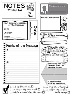 sermon activities for kids - Google Search