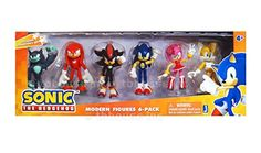Sonic the Hedgehog Modern Exclusive Action Figure 6 Pack Tails, Knuckles, Sonic, Amy, Werehog Now you can get 6 of your favorite Modern Sonic 3 inch figures Sonic The Hedgehog 4, Sonic 3, Sonic And Amy, Sonic Birthday Parties, Sonic Party, Sonic Figures, Action Figures, Sonic Free Riders, Happy Birthday Drawings