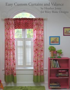 Riley Blake Designs Blog: Project Design Team Wednesday~Easy Custom Curtains and Valance