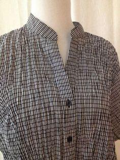 East 5th Shirt Plus Size 3X Black White Short Sleeve Button Down