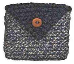Free Knitting Pattern - Bags, Purses & Totes: Envelope Purse