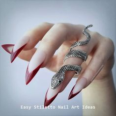 Claw stiletto nails Halloween Goth Gothic Claw stiletto nails Halloween Goth Gothic The post Claw stiletto nails Halloween Goth Gothic appeared first on Halloween Nails. Black Stiletto Nails, Matte Nails, Red Nails, Hair And Nails, Acrylic Nails, Pointed Nails, Glitter Nails, Witchy Nails, Goth Nails